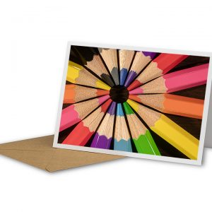 Circle Of Colour Greetings Card And Envelope