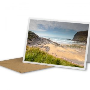 Crackington Haven Beach Greetings Card And Envelope