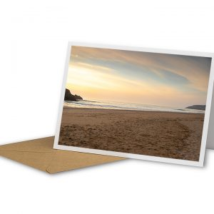 Deserted Holywell Bay Greetings Card And Envelope