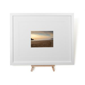 Deserted Holywell Bay Framed Print