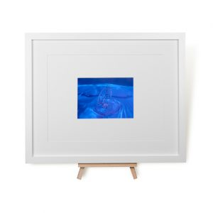 Icy Blue Water Framed Print