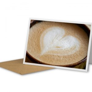 Latte Love Greetings Card And Envelope
