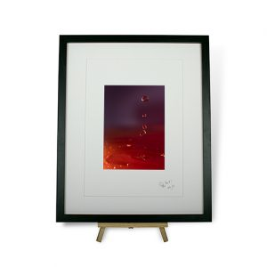 Limited Edition Red Water Droplets #1 Framed Print