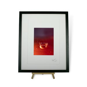 Limited Edition Red Water Droplets #2 Framed Print