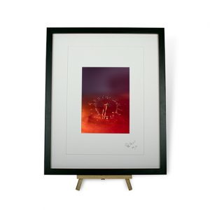 Limited Edition Red Water Droplets #5 Framed Print
