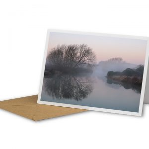Misty Watermead Park Greetings Card And Envelope
