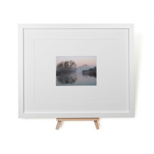 Misty Watermead Park Framed Print