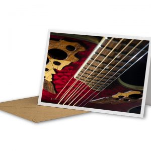 Ovation Acoustic Guitar Greetings Card And Envelope