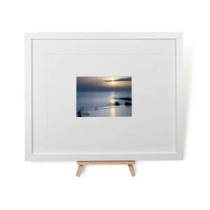 Sunset At Bude Sea Pool Framed Print