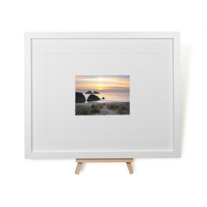 Sunset At Holywell Bay Framed Print