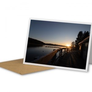 Winter Sunrise At Thornton Reservoir Greetings Card And Envelope