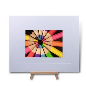 Circle Of Colour Double Mounted Print