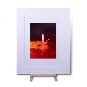 Lava Water Droplet Double Mounted Print