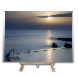 Sunset At Bude Sea Pool Canvas Print