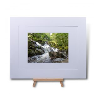 Waterfall At Eskdale Mill Double Mounted Print